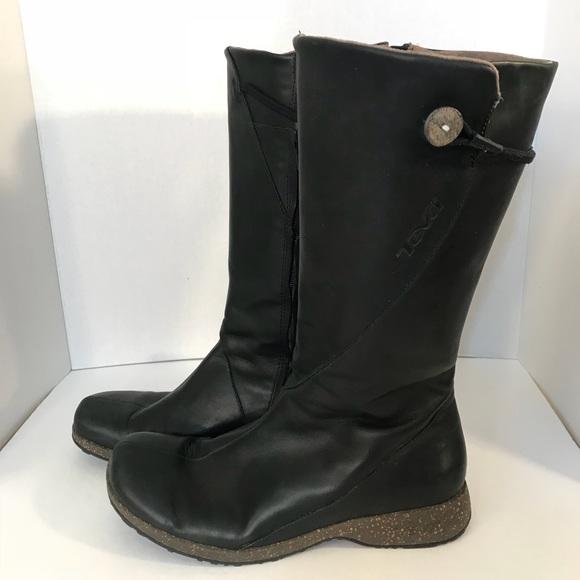 f83c7a9cfbb990 Teva Size 9 Black Leather Boots 4027 MONTECITO. M 5b54f1414cdc3056fd2f5480